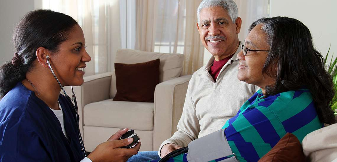 Checking Blood Pressure Home Care